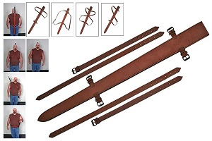 Leather Sword Sheath with Belts